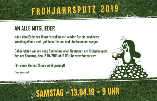 Frühjahrsputz 2019 – 13.04.2019 ab 9.00 Uhr