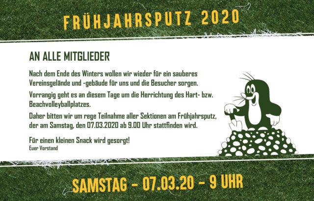 Frühjahrsputz 2020 – 07.03.2020 ab 9.00 Uhr